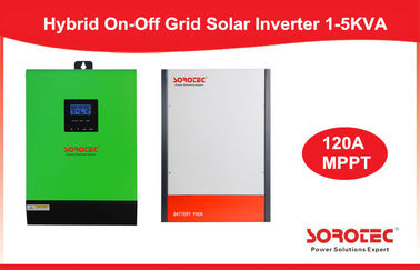 China On/Off Hybrid Solar Inverter 3000W 60V Single Phase Inverter Built-in MPPT 120A fábrica